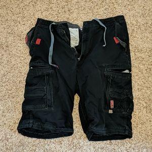 Performance Sonoma Men's Black Cargo Shorts SZ 38